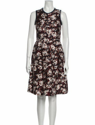 Mother of Pearl Floral Print Knee-Length Dress