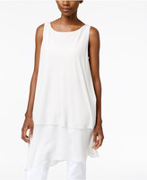 Eileen Fisher Silk Jersey Asymmetrical Layered-Look Tunic, Regular & Petite