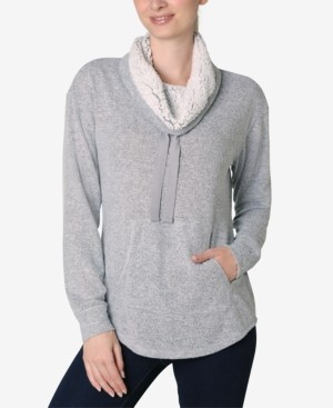 Ultra Flirt Juniors' Faux-Sherpa Lined Sweatshirt