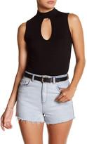Velvet Torch Mock Neck Keyhole Bodysuit