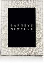 "Barneys New York Studio Crocodile-Embossed Leather 5"" x 7"" Picture Frame"