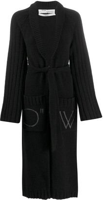 Off-White Long Knitted Cardi-Coat