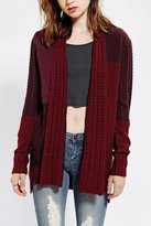 Urban Outfitters Ecote Mixed-Stitch Sweater Coat