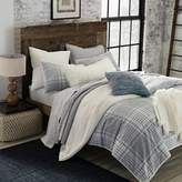 UGG Tara Plaid Flannel Reversible Full/Queen Comforter Set in Grey/Snow White