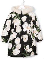 Dolce & Gabbana tulip print puffer coat