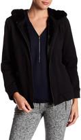 The Kooples Fancy Faux Fur Cotton Sweatshirt