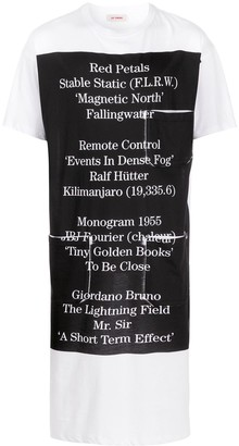 Raf Simons Red Petals-print long T-shirt