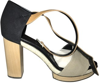 Pierre Hardy Beige Cloth Sandals