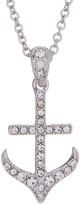 Nadri Crystal Embellished Anchor Pendant Necklace