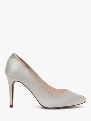 Rainbow Club Billie High Heeled Stiletto Court Shoes, Ivory Satin
