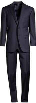 Canali Classic-Fit Micro Box Check Wool Suit