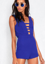 Missy Empire Clarity Blue Cut Out Plunge Playsuit