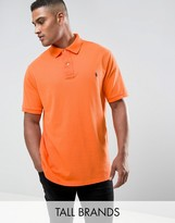 Polo Ralph Lauren Tall Pique Polo Slim Fit In Orange