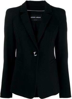 Giorgio Armani Long-Sleeved Slit Pockets Blazer