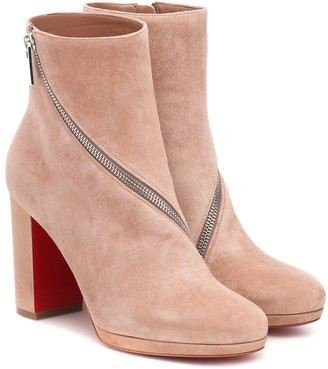 Christian Louboutin Birgitta 100 suede ankle boots