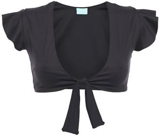 Melissa Odabash Koh Samui Tie-front Ruffle-trimmed Bikini Top