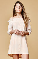 MinkPink Business Off-The-Shoulder Dress