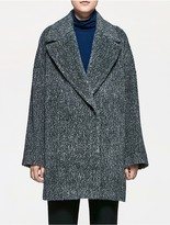 Calvin Klein Platinum Alpaca Wool Easy Coat