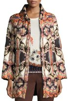 Etro Paisley Quilted Puffer Coat, Black