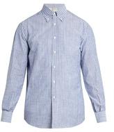 Brunello Cucinelli Button-down Collar Striped-cotton Shirt