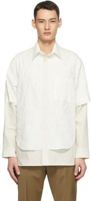 Deveaux Off-White Crinkle Duncan Shirt
