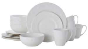 Pfaltzgraff flamingo 16 pc dinnerware set, service for 4