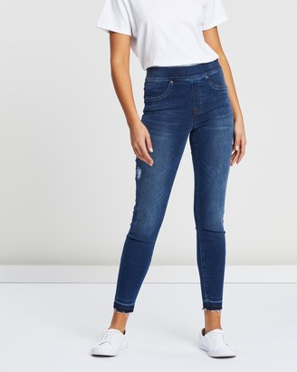 Spanx Women's Blue Skinny - Distressd Skinny Jeans - Size One Size, S at The Iconic