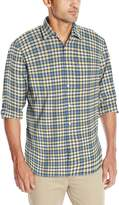 Izod Men's Stylish and Comfortable Long Sleeve Button Down Oxford Woven Stylish Shirt
