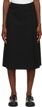 Rika Studios Black Crepe Liza Skirt