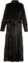 Etro Long-sleeved embroidered-appliqué fur coat