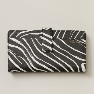 Love & Lore Love And Lore Tab Travel Wallet Zebra Stripe