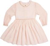 Marie Chantal Marie-Chantal Long Sleeve Silk Chiffon Shirt Dress
