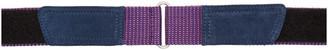 Dries Van Noten Purple Grosgrain Belt
