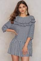 boohoo Gingham Ruffle Dress