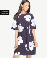 Ann Taylor Orchid Tie Front Dress