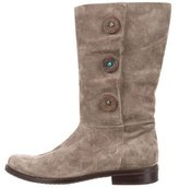 Henry Cuir Suede Semi Pointed-Toe Boots