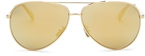 Celine Women's Glitter Brow Bar Aviator Sunglasses, 61mm