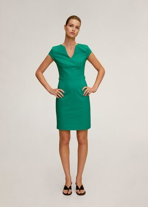 MANGO Pencil dress green - 2 - Women