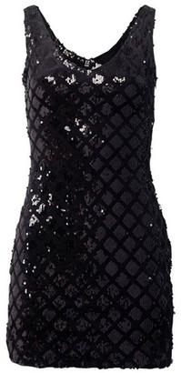 Dorothy Perkins Womens Izabel London Black Sequin Dress, Black