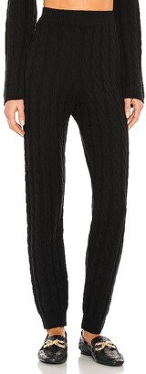 LPA Cashmere Cable Knit Easy Pant