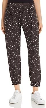 ATM Anthony Thomas Melillo Polka-Dot Printed Silk Jogger Pants