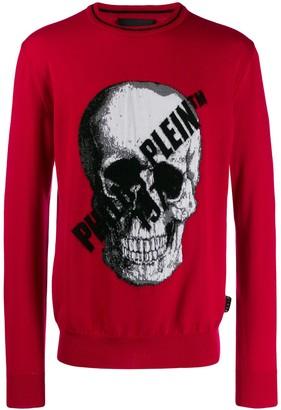 Philipp Plein Skull print pullover