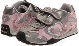 Geox Kids - Jr New Jocker Girl FW11 Lighted (Toddler/Youth) (Silver/Rose) - Footwear