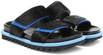 Dries Van Noten Calf hair-trimmed sandals