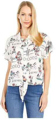 Double D Ranchwear Doodle Dany Top (Print) Women's Clothing