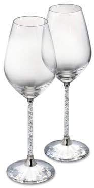 Swarovski Crystalline Red Wine Glasses Set of 2