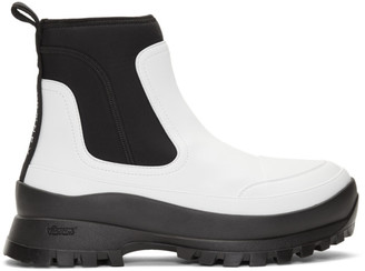 Stella McCartney White Utility Boots