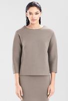 Josie Natori Double Face Bonded Jersey Pullover