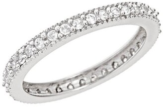 Sterling Forever Sterling Silver Sparkling CZ Band Ring