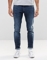 Wrangler Larston Slim Jean X-mex Superstretch Repair Knee Mid Wash